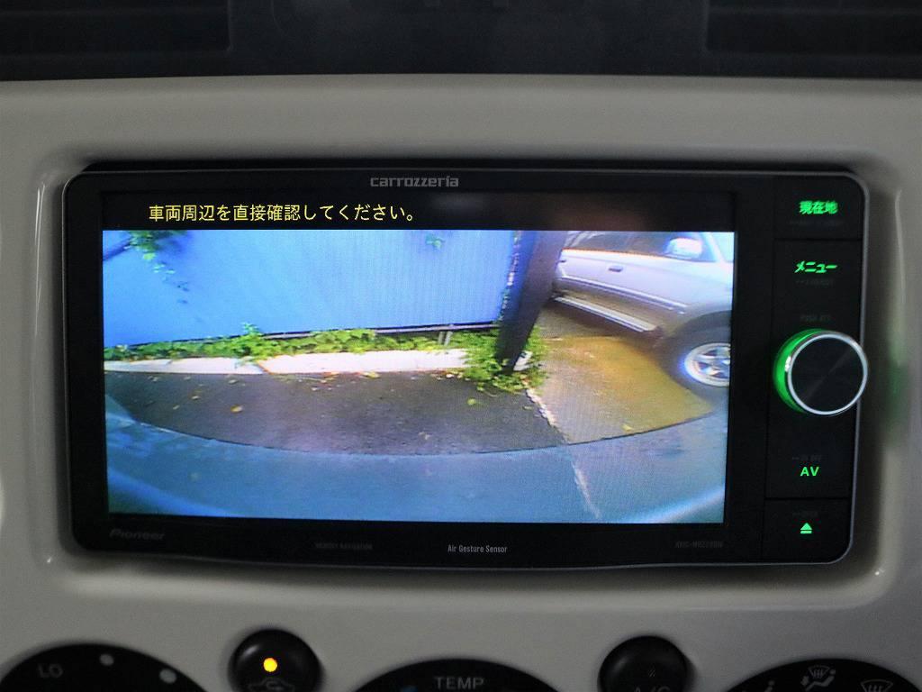 バックカメラも装着済み。リアパーキングセンサーも標準装備ですので駐車もご安心ください。