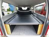 CARVINベッドキット。車中泊にもお仕事にもお使いいただきやすい仕様です。