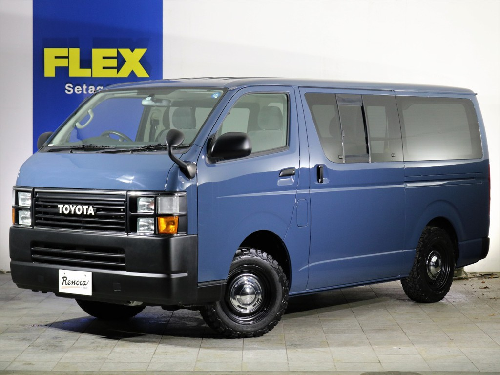 """FLEX Renoca HIACE """"CoastLines Narrow""""4ナンバーサイズナローボディのコーストライン4WD完成です。ディーゼルターボ×4WDのハイエースバントップグレード!"""
