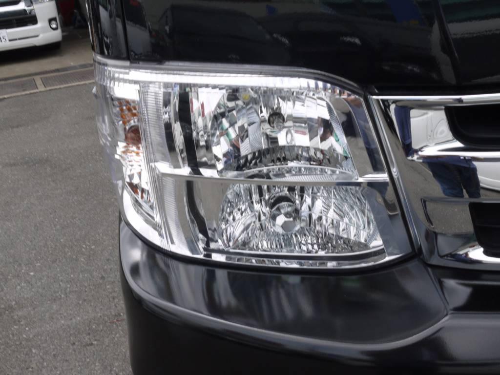 新車時メーカーオプションの純正HIDヘッドライト! | トヨタ ハイエース 2.7 GL ロング ミドルルーフ ワゴンKIT