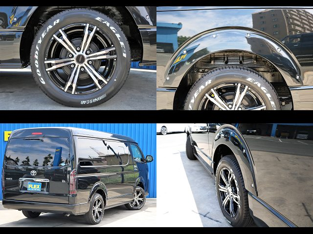 JAOSオーバーフェンダー☆RAYS デイトナFDX-HC17インチAW !! | トヨタ ハイエース 2.7 GL ロング ミドルルーフ 4WD 4WD Ver1