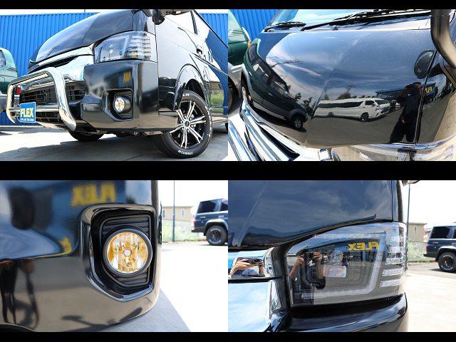 415コブラBy2ボンネット、LEDフォグバルブ(イエロー)、コプラスプラチナムヘッドライト☆ | トヨタ ハイエース 2.7 GL ロング ミドルルーフ 4WD 4WD Ver1