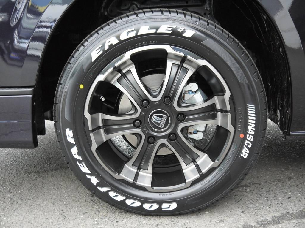 FLEX専用カラー【バルベロワイルドディープス】17AW&グッドイヤーナスカーホワイトレタータイヤ!   トヨタ ハイエースバン 2.0 スーパーGL ロング TSSP