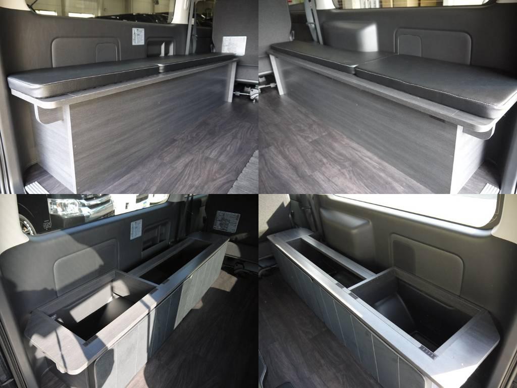 家具内は収納スペースとしてもご利用いただけます。 | トヨタ ハイエースバン 3.0 スーパーGL  ダークプライム ロングボディ ディーゼルターボ Ver4DP