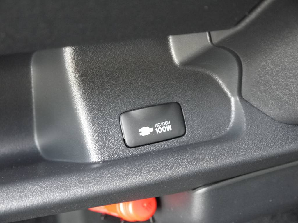 メーカーオプションのAC100V電源も完備しております。 | トヨタ ハイエースバン 3.0 スーパーGL  ダークプライム ロングボディ ディーゼルターボ Ver4DP
