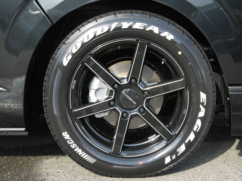 415COBRAバッドラッカー17inchAW&グッドイヤーナスカーホワイトレタータイヤ! | トヨタ ハイエースバン 3.0 スーパーGL  ダークプライム ロングボディ ディーゼルターボ Ver4DP