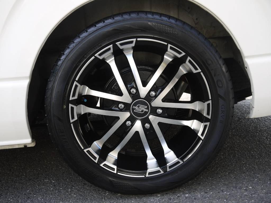 ゼロブレイクS18inchAW装着!足元もバッチリきまってます! | トヨタ ハイエース 2.7 GL ロング ミドルルーフ