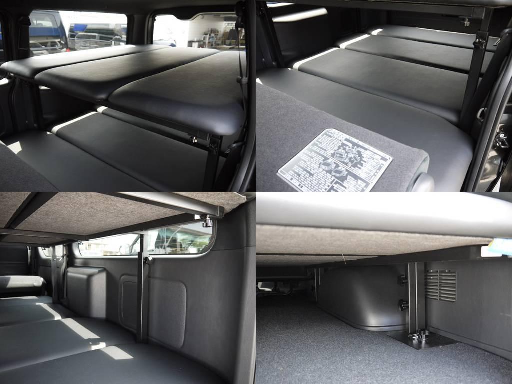 2段ベッドキット!車室内の空間を有効活用!車中泊も気軽にお楽しみいただけます。 | トヨタ ハイエースバン 2.0 スーパーGL ダークプライムⅡ ロングボディ 2段ベッドPKG