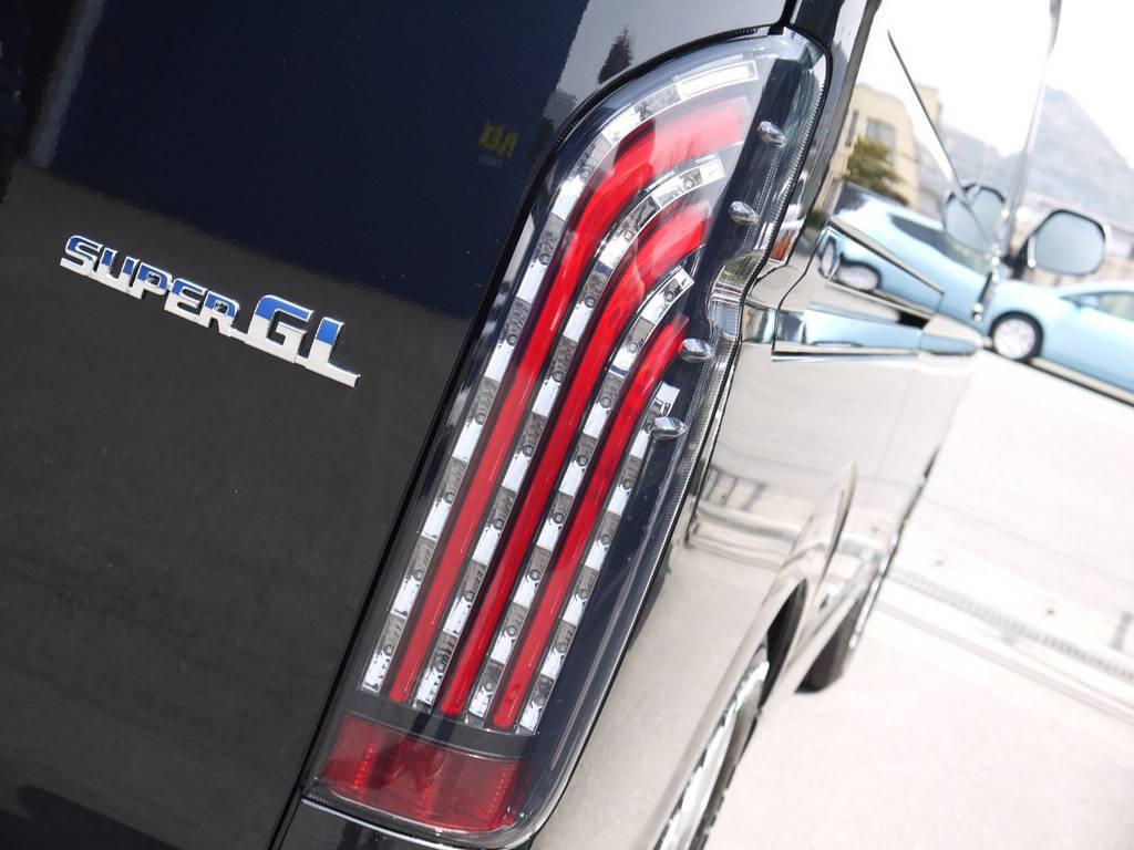 FLEXオリジナル煌レッドLEDテール! | トヨタ ハイエースバン 2.0 スーパーGL ダークプライムⅡ ロングボディ 2段ベッドPKG