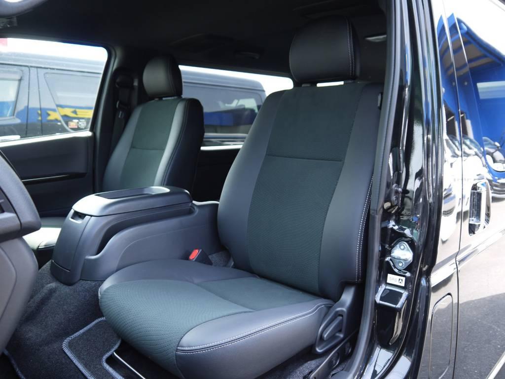 特別仕様車専用装備:ハーフレザーシート! | トヨタ ハイエースバン 2.0 スーパーGL ダークプライムⅡ ロングボディ 2段ベッドPKG