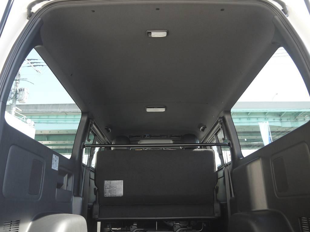 DARKPRIMEⅡ専用装備:ブラックルーフ&ブラックピラー!インテリア全体の高級感もUP!   トヨタ ハイエースバン 2.0 スーパーGL ダークプライムⅡ ロングボディ GIBSONエアロ