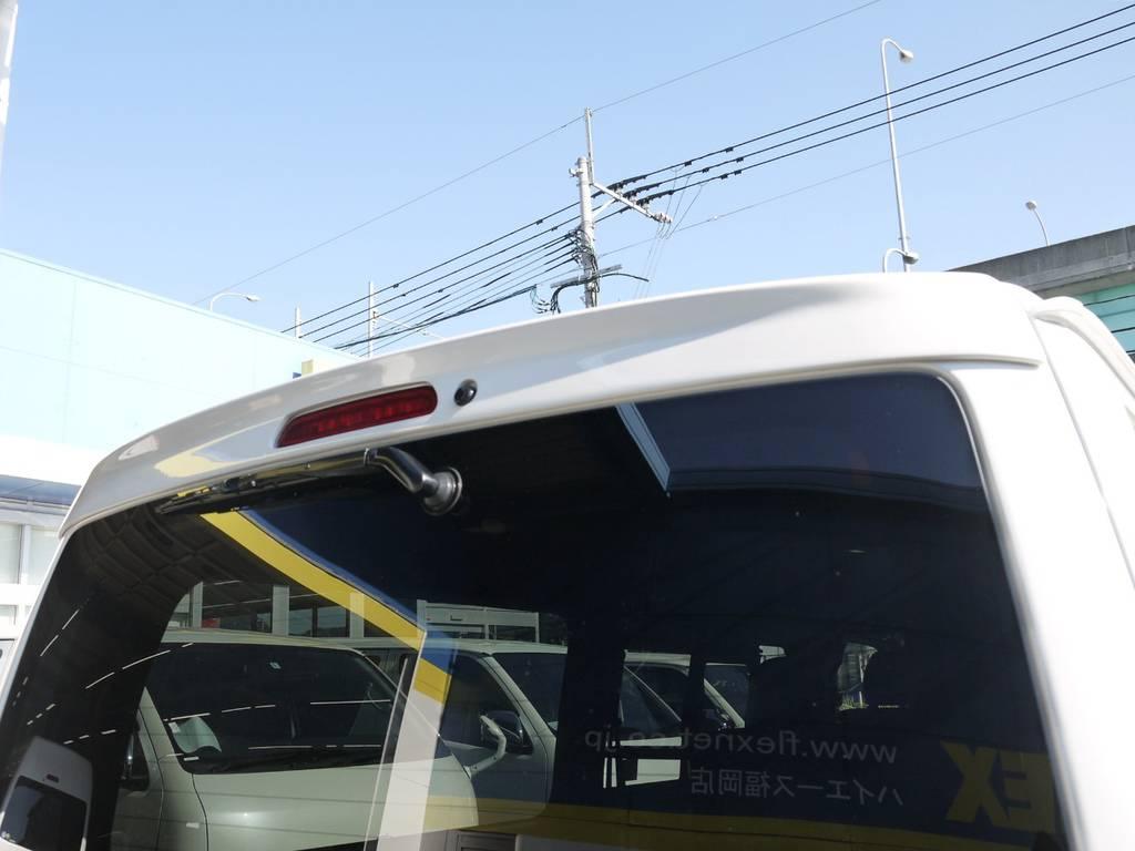 GIBSONリアウイング!   トヨタ ハイエースバン 2.0 スーパーGL ダークプライムⅡ ロングボディ GIBSONエアロ