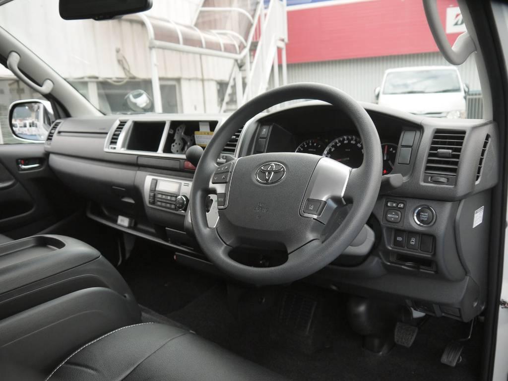 インテリアパネル等の追加カスタムも大歓迎♪最新ナビ・ETC・Fダウン等がセットになったお得なナビPKG等もご用意しております。各種カスタムもお気軽にご相談下さい。 | トヨタ ハイエース 2.7 GL ロング ミドルルーフ 4WD TSS付 R1