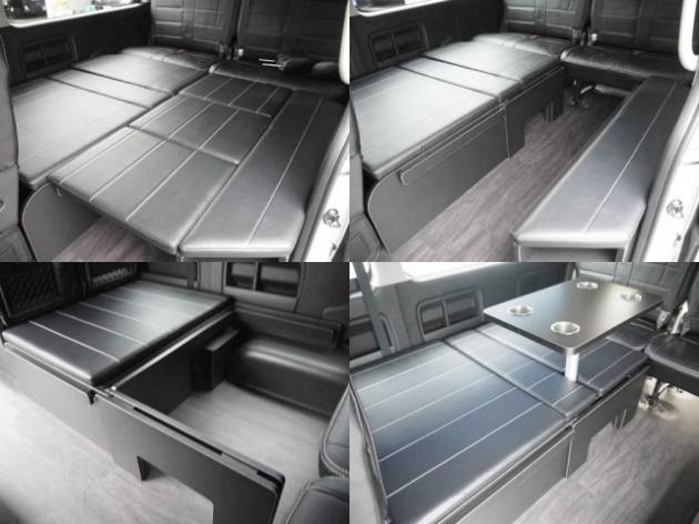 付属のマットを使ってフルフラットベッドにアレンジ可能!車中泊もお楽しみいただけます! | トヨタ ハイエース 2.7 GL ロング ミドルルーフ 4WD TSS付 R1