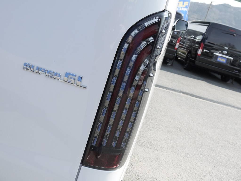FLEXオリジナル【煌レッドLEDテール】 | トヨタ ハイエースバン 2.0 スーパーGL ダークプライムⅡ ロングボディ JOBACE