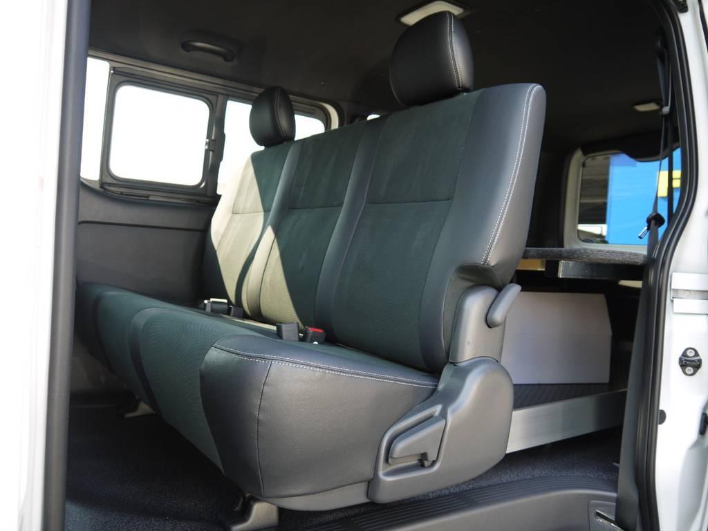 後席シートベルトも標準装備!チャイルドシートのお取り付けもOK! | トヨタ ハイエースバン 2.0 スーパーGL ダークプライムⅡ ロングボディ JOBACE