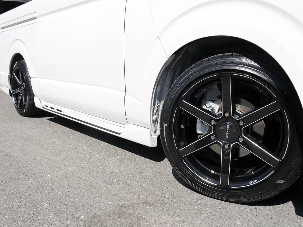415COBRA【SD6】18inchAW&グッドイヤーEXEタイヤ装着! | トヨタ ハイエース 2.7 GL ロング ファインテックツアラー COBRAコンプリート