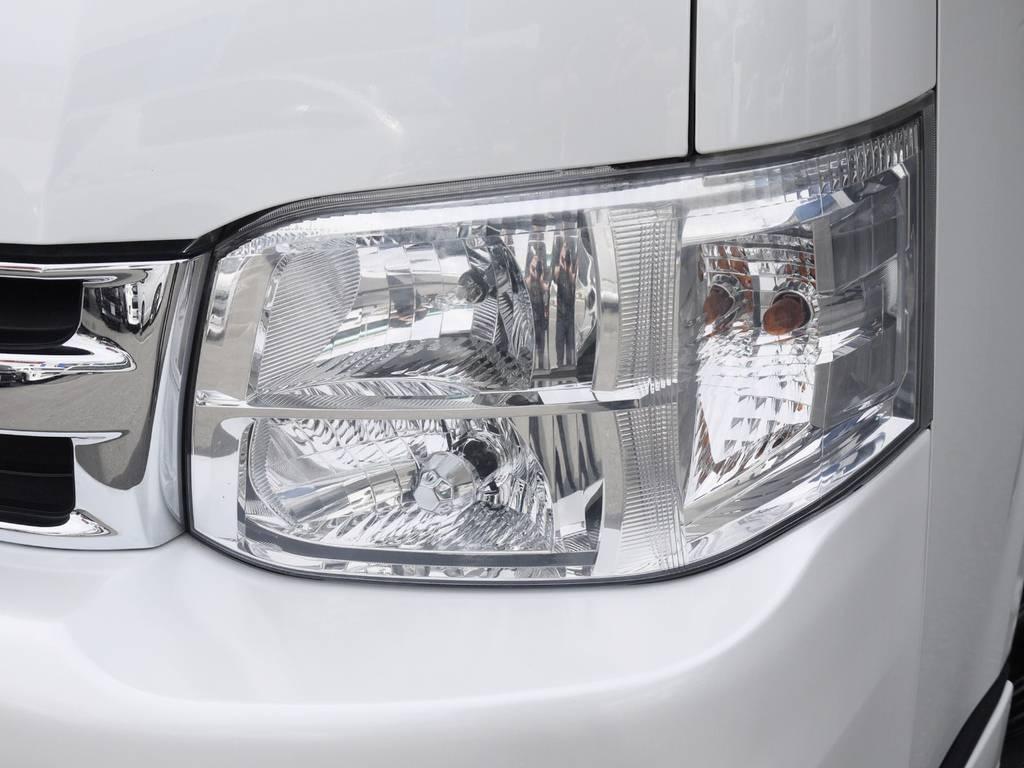 新車時メーカーオプションのHIDヘッドライトも完備しております。 | トヨタ ハイエース 2.7 GL ロング ミドルルーフ BIGX8インチナビ