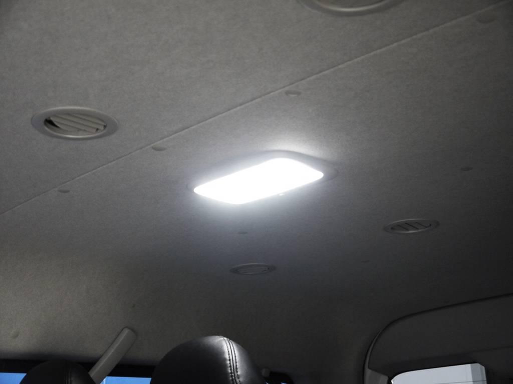 LEDルームランプ! | トヨタ ハイエース 2.7 GL ロング ミドルルーフ BIGX8インチナビ