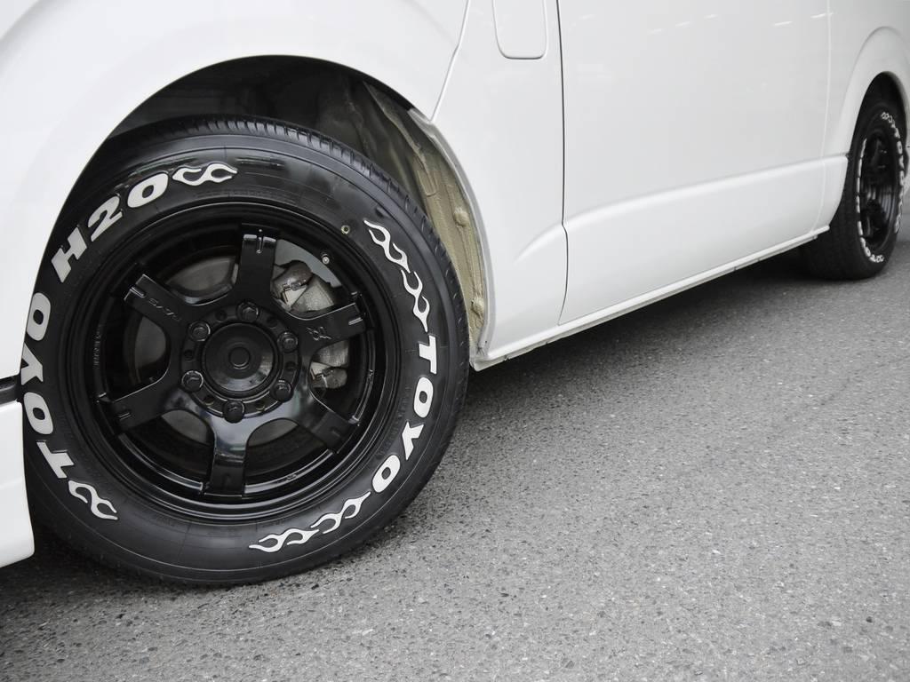 RAYSグラムライツ16インチAW&H20ホワイトレタータイヤ! | トヨタ ハイエース 2.7 GL ロング ミドルルーフ BIGX8インチナビ
