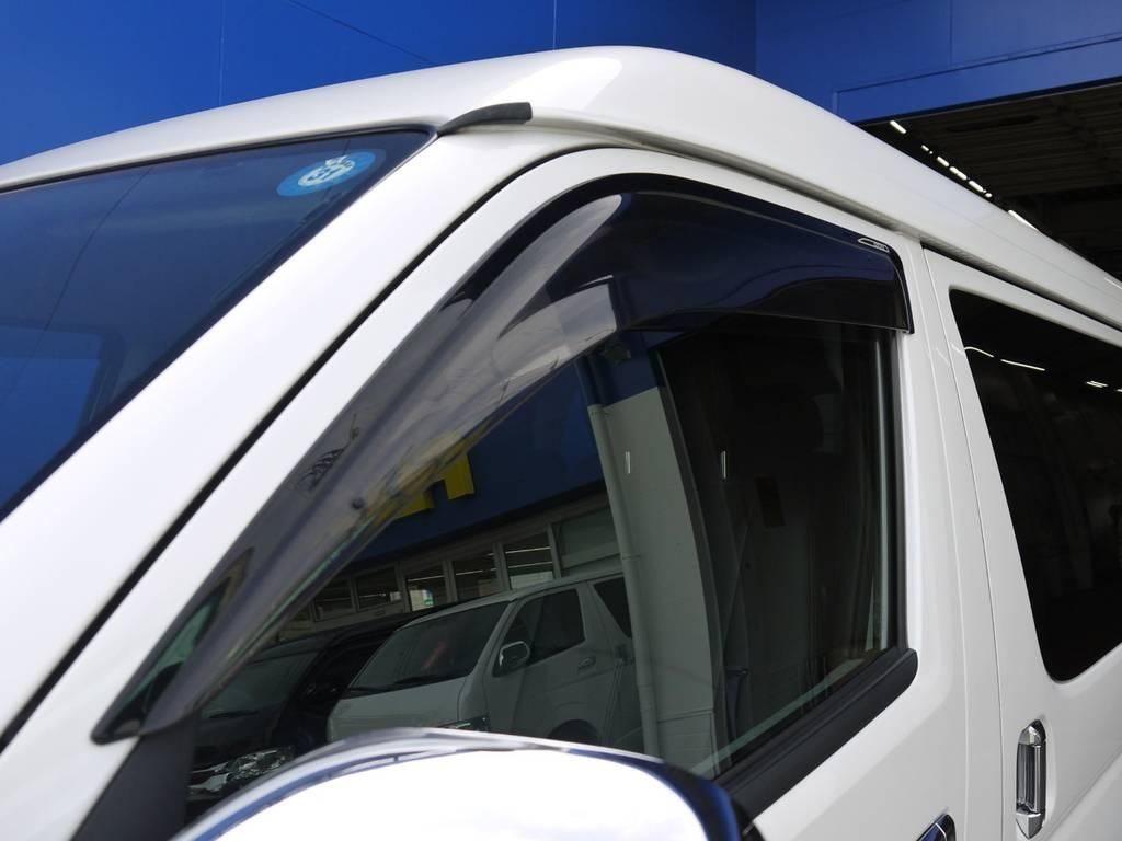 サイドバイザーも装着済み! | トヨタ ハイエース 2.7 GL ロング ミドルルーフ BIGX8インチナビ