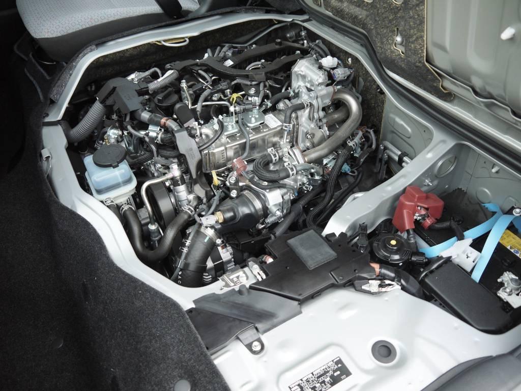 2800クリーンディーゼル!エンジン音も静かです。 | トヨタ ハイエースコミューター 2.8 GL ディーゼルターボ 3ナンバー乗用構造変更