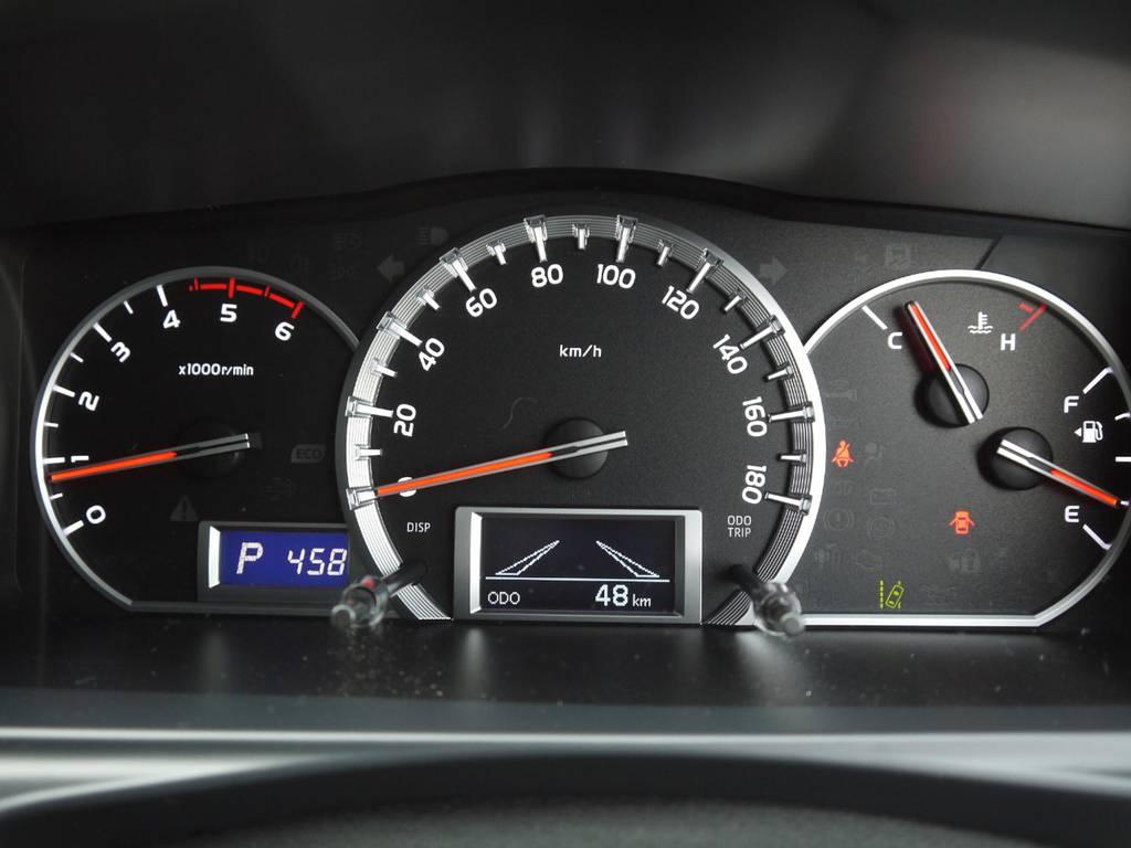 コミューターGLはオプティトロンメーターも標準装備。 | トヨタ ハイエースコミューター 2.8 GL ディーゼルターボ 3ナンバー乗用構造変更