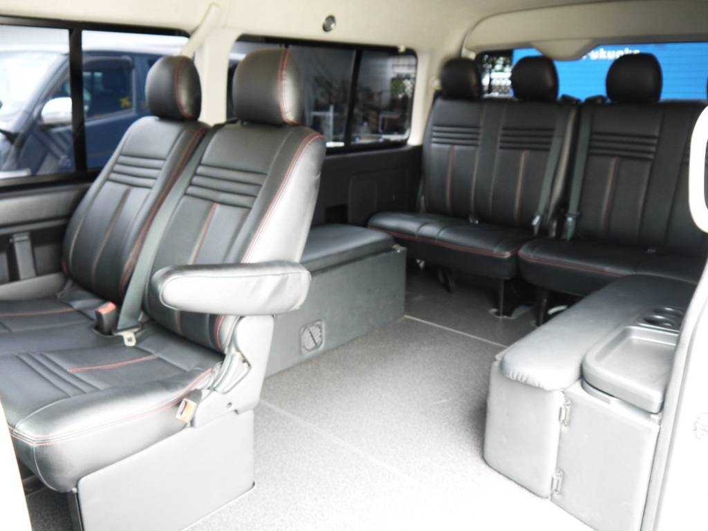 目的や用途に応じて多目的に使える1台! | トヨタ ハイエース 2.7 GL ロング ミドルルーフ ベッドキットシートアレンジ