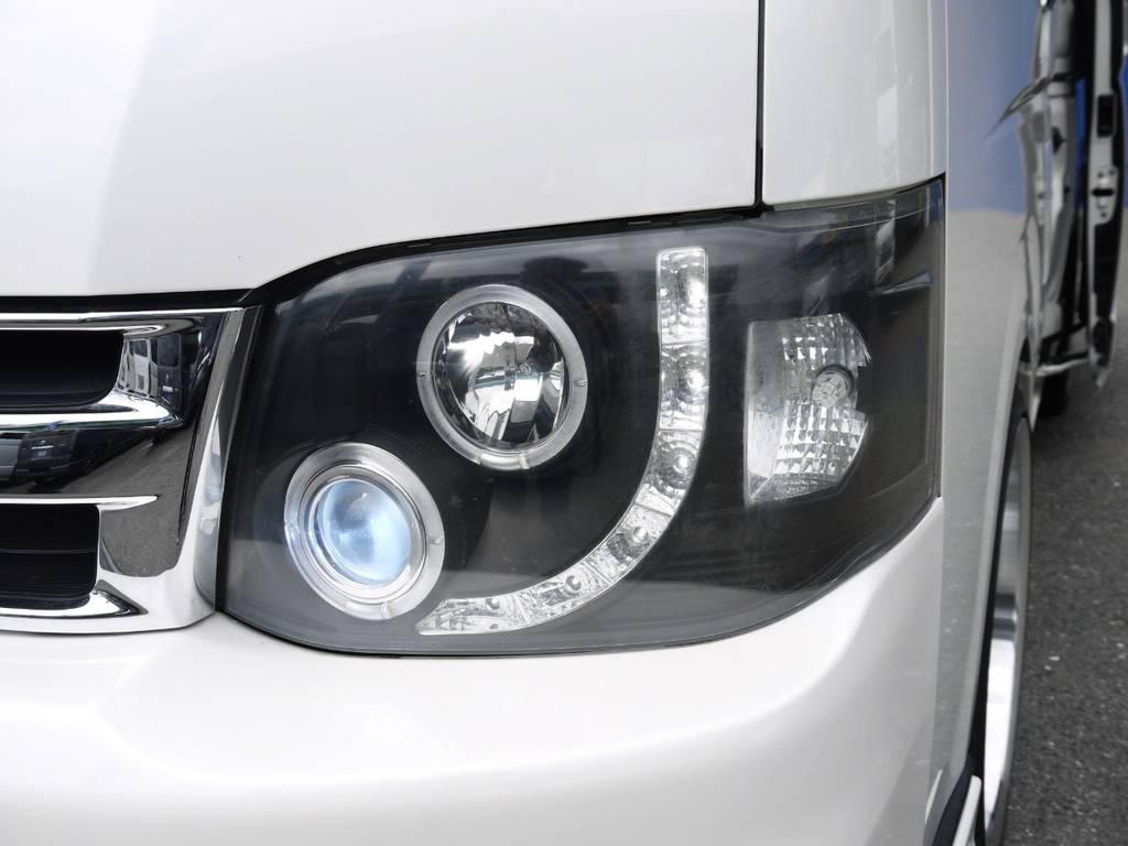 ブランバレンインナーブラックヘッドライト! | トヨタ ハイエース 2.7 GL ロング ミドルルーフ ベッドキットシートアレンジ