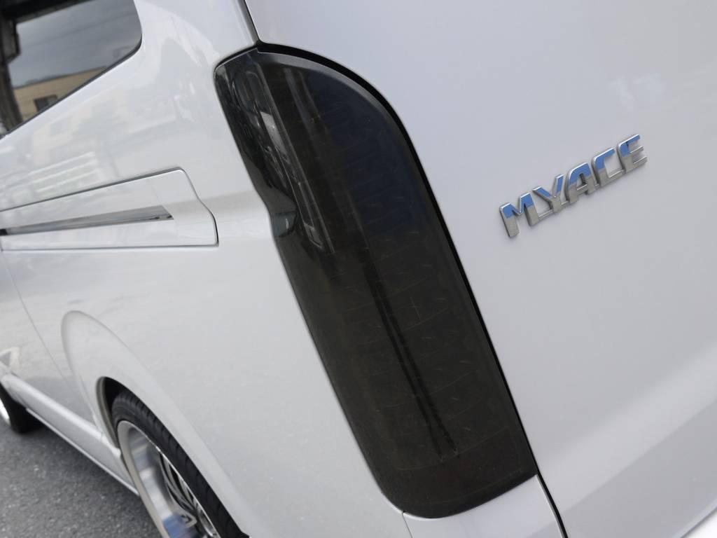 LEDスモークテール! | トヨタ ハイエース 2.7 GL ロング ミドルルーフ ベッドキットシートアレンジ