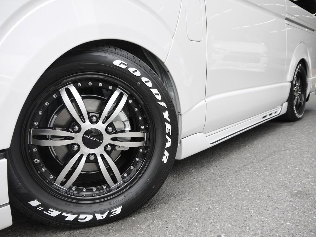 415COBRA【バッドラッカーⅢ】17inchAW&グッドイヤーナスカータイヤ&オーバーフェンダー装着!