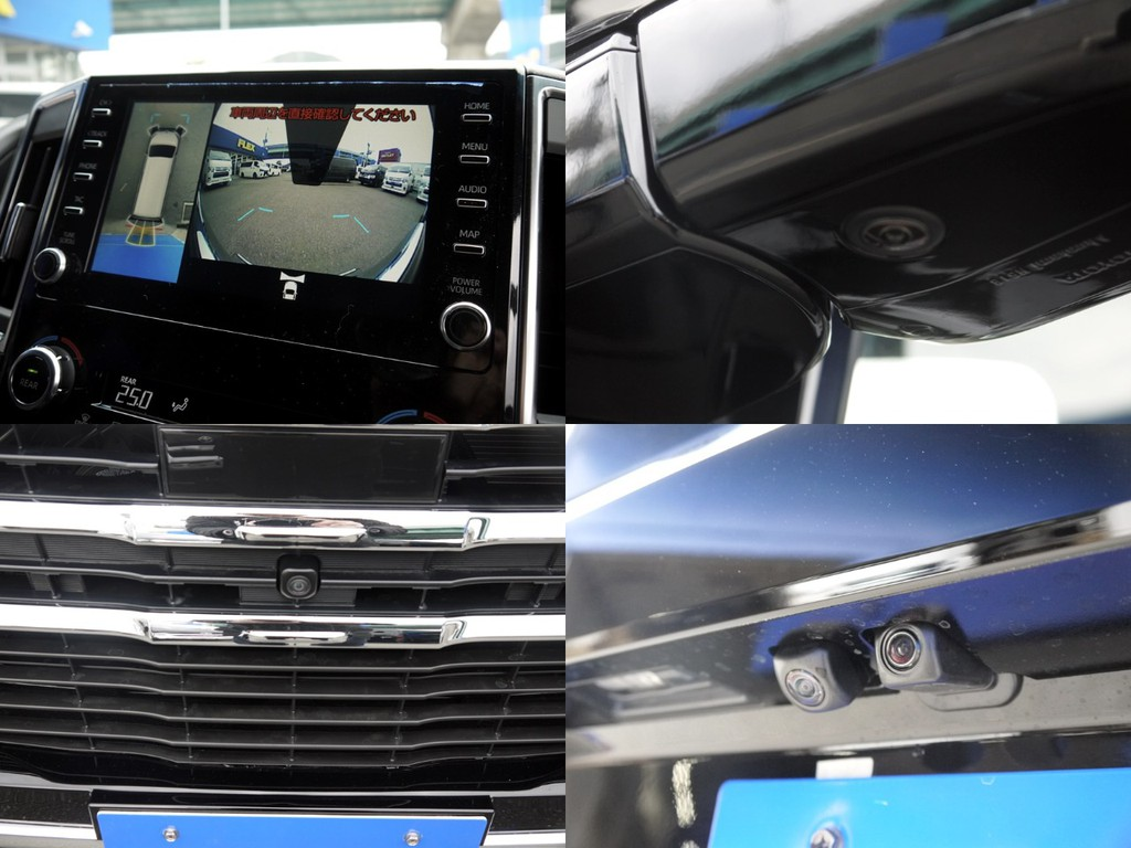 【パノラミックビューモニター】車両を上から見たような映像をナビ画面に表示します。