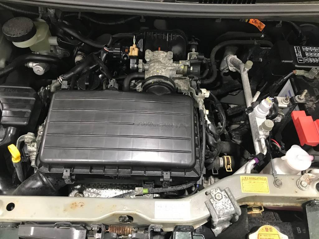 エンジンは異音等はなく元気です!軽自動車なので維持費が安い点もGOOD!
