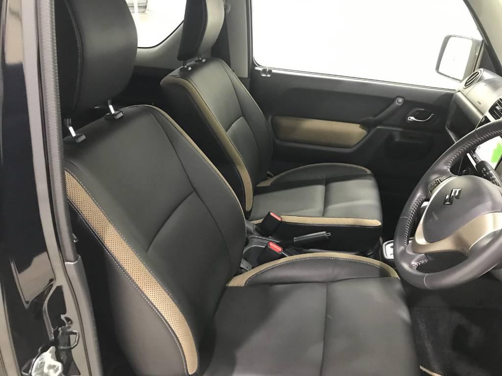 革シートは劣化も少なく状態は良いです。まだまだ新しい車なので安心です。