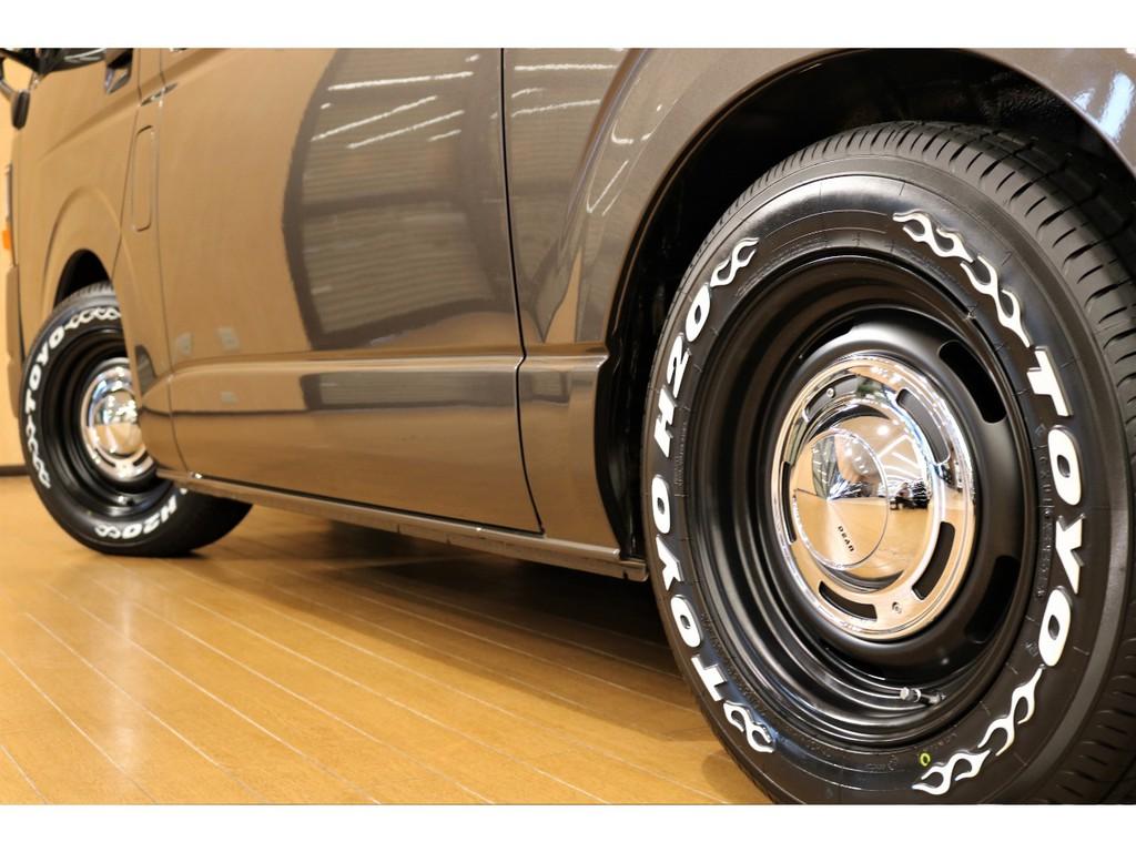 【アルミフェイス】DEANクロスカントリー&トーヨー製H20タイヤ採用。