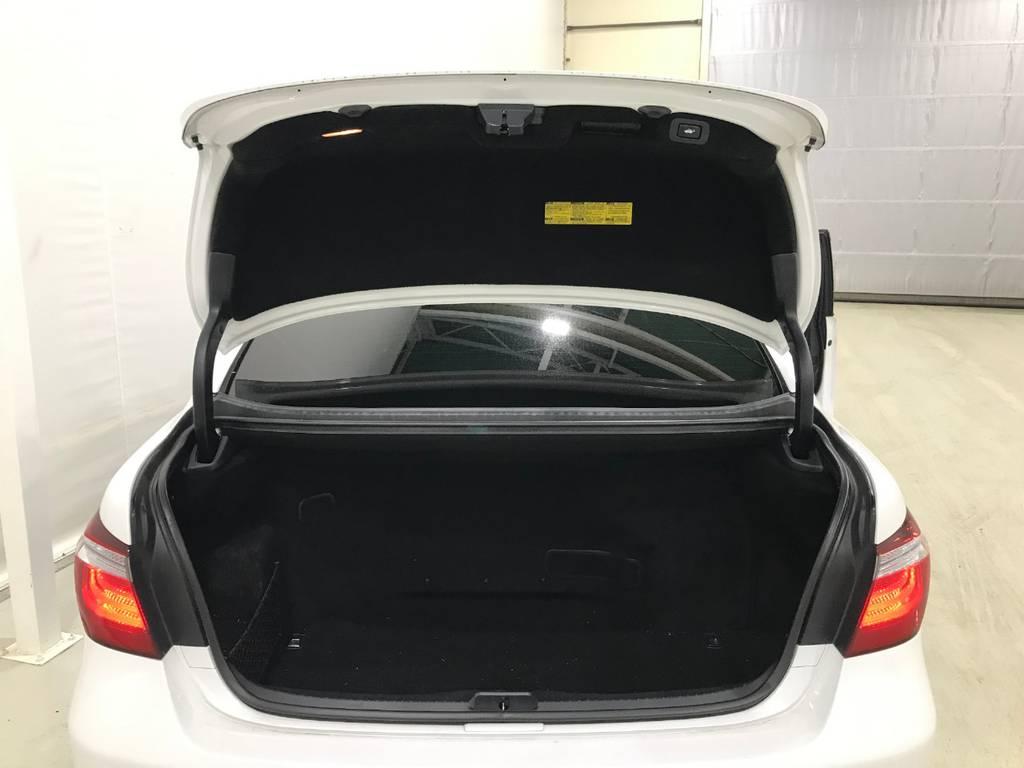 もちろんイージークローザーとオープナーも装備しています。トランクは後席で容量を使っているのでそこまで広くはないのでその点は注意です!