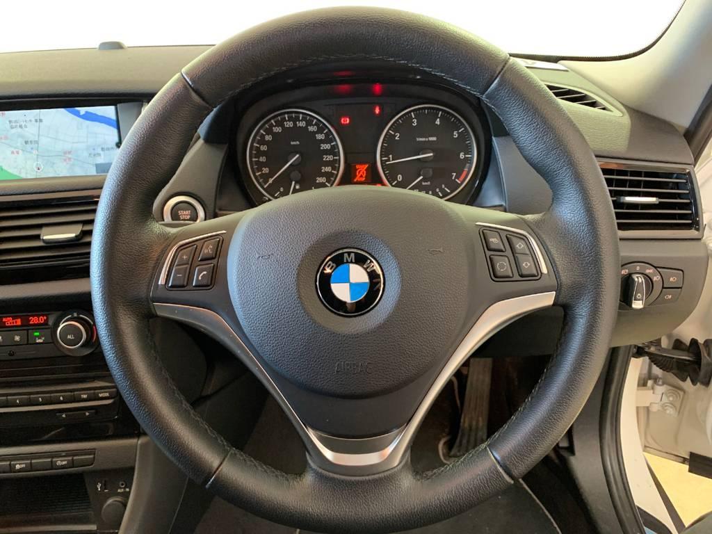 ステアリングはやや重めな印象です。決して壊れているわけではなくこれがベースなのです。BMWオーナーになるのであればここは注意が必要です。