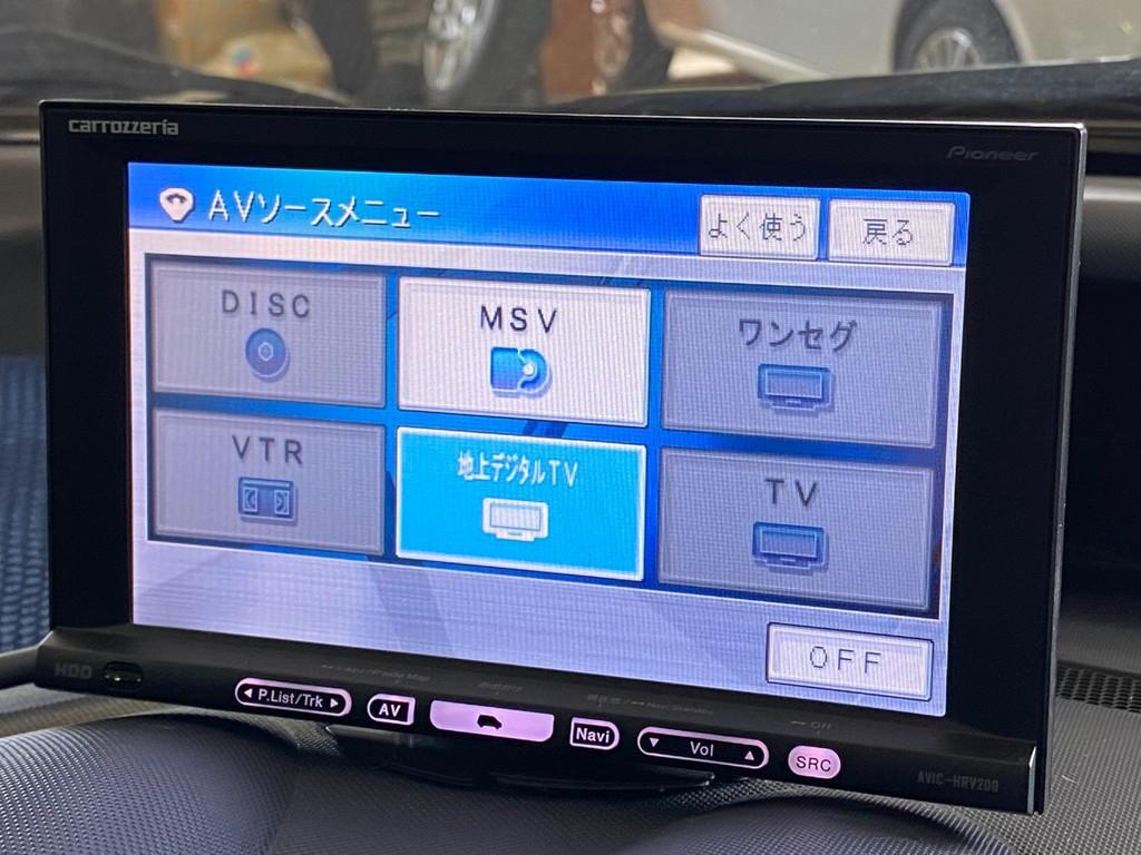オンダッシュのHDDナビ!フルセグTV対応となります!