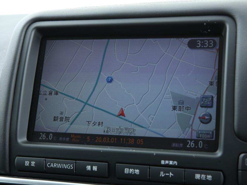 GT-R専用のマルチオーディオ!HDDナビ機能付きです!