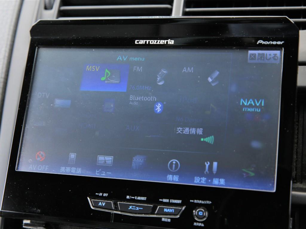 カロッツェリアHDDナビ!フルセグTV&DVD再生、Bluetooth機能付きです!