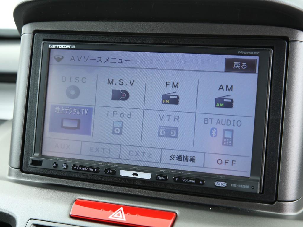 カロッツェリア製HDDナビ!フルセグ地デジTV&CD録音機能付きです!