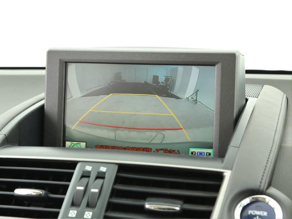 リバース連動のバックカメラ付き!駐車時に便利な装備となります!