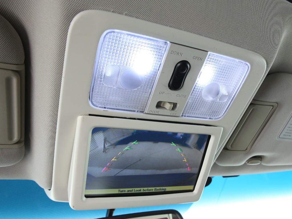 フルセグHDDナビ取り付けの為、天井には純正オーディオを移設!ナビにもカメラ映像が映ります!