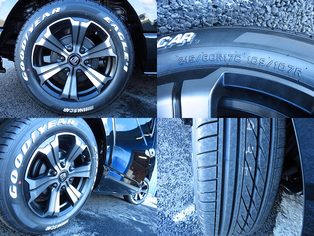 FLEXオリジナルカラーのバルベロ アーバングランデ17インチアルミホイール!グッドイヤーナスカータイヤ! | トヨタ ハイエース 2.7 GL ロング ミドルルーフ 4WD TSS付