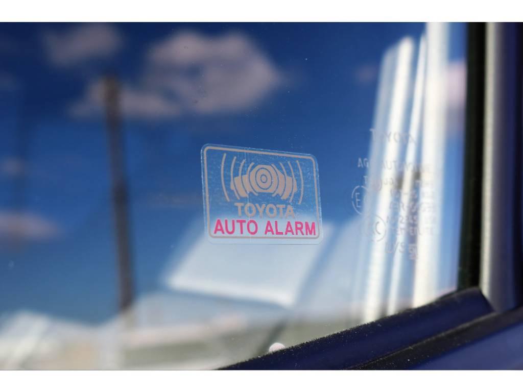 標準装備の盗難防止システム(イモビライザーシステム・オートアラーム) | トヨタ ハイエース 2.7 GL ロング ミドルルーフ 4WD TSS付