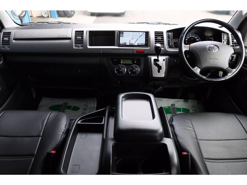 広いコックピットは視界良好で大きなボディですが、運転も楽々です♪ | トヨタ レジアスエース 3.0 スーパーGL プライムセレクション ワイド ミドルルーフ ロング ディーゼルターボ