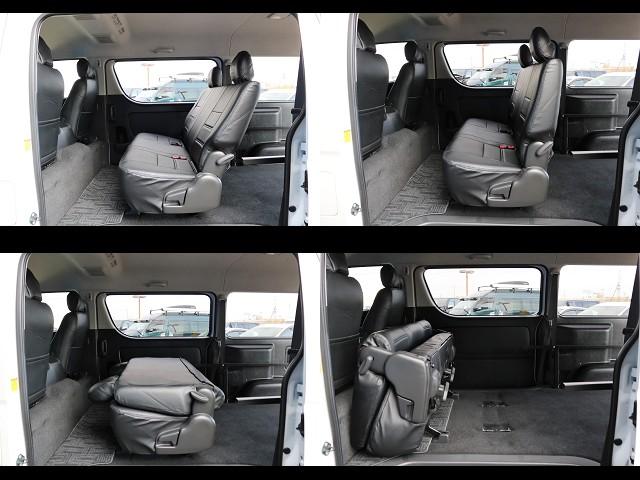リクライニング・折りたたみ可能なセカンドシート!チャイルドシートも取り付け可能です!! | トヨタ レジアスエース 3.0 スーパーGL プライムセレクション ワイド ミドルルーフ ロング ディーゼルターボ