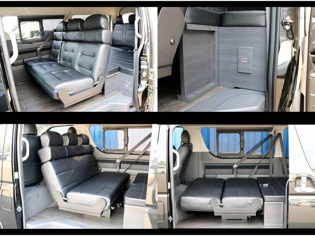セカンドシートを変化させいろいろな使い方が出来ます!   トヨタ ハイエース 2.7 GL ロング ミドルルーフ 4WD TSS付 Ver2