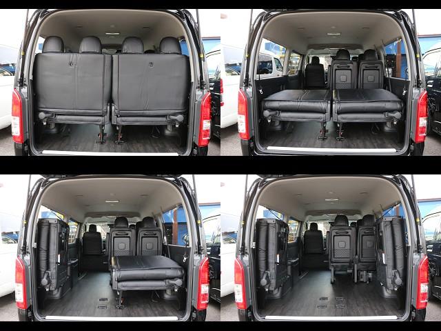 4列目シートは跳ね上げ式になっております!広い荷室も確保できます♪ | トヨタ ハイエース 2.7 GL ロング ミドルルーフ 4WD TSS付