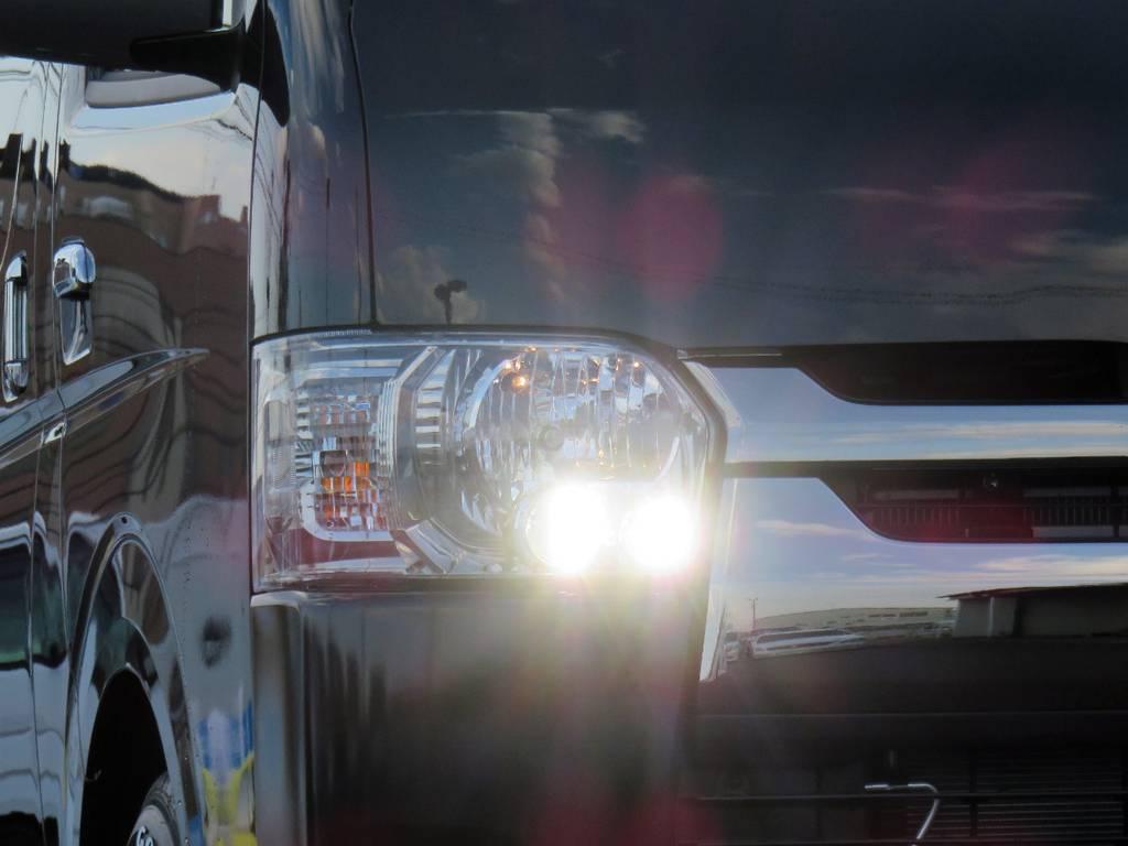 メーカーオプションのLEDヘッドライト装備♪視界良好です♪ | トヨタ ハイエース 2.7 GL ロング ミドルルーフ 4WD TSS付